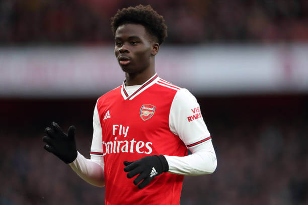 Bukayo Saka reacts to new shirts number for the 2020/21 season