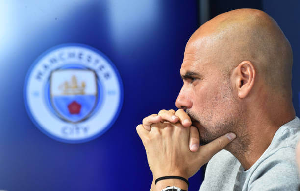 Manchester City Pep Guardiola denies rumours linking Jadon Sancho to City