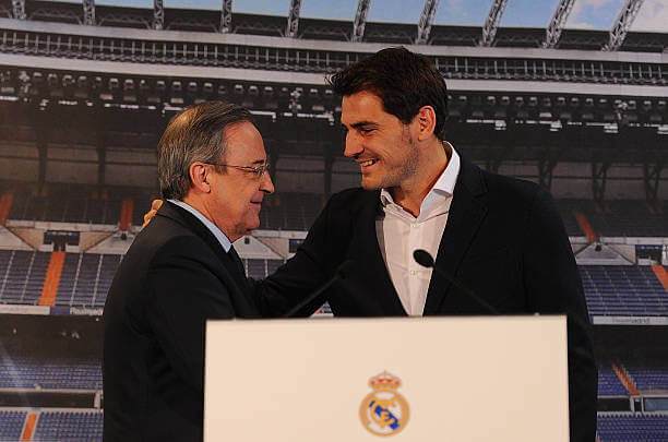 Florentino Perez and Iker Casillas at Real Madrid