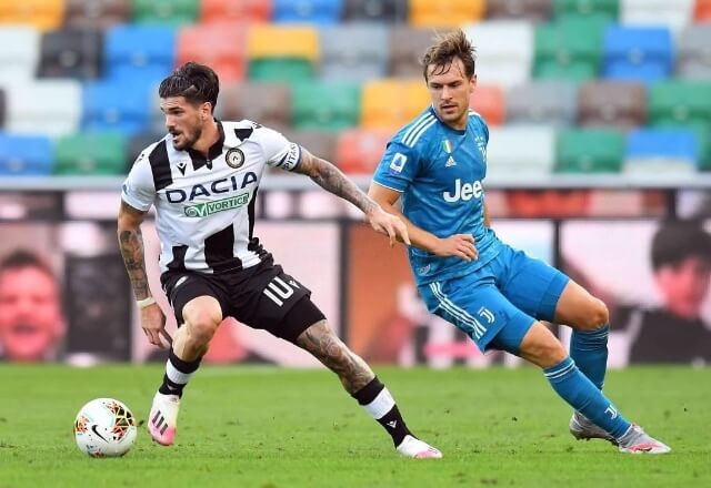 Udinese vs Juventus in the Serie A