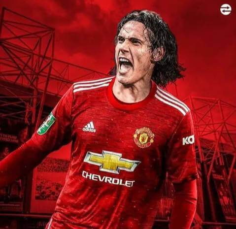 Manchester United confirms the signing of PSG star Edision Cavani