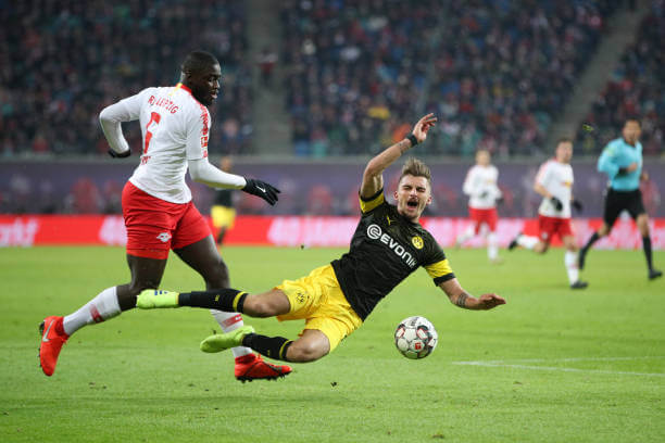 Dayot Upemecano in action for Red Bull Salzburg