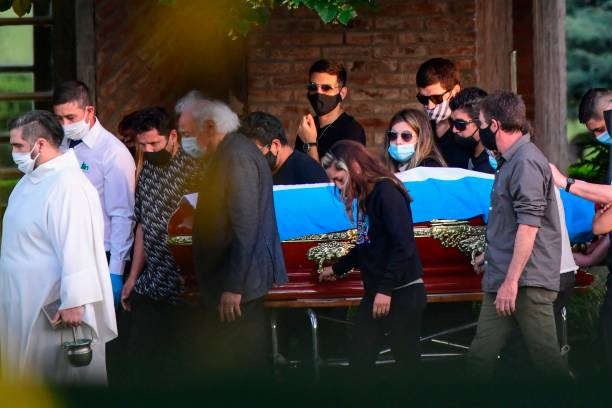 Diego Maradona Buried