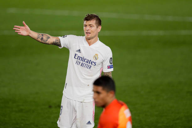 Real Madrid midfielder Toni Kroos