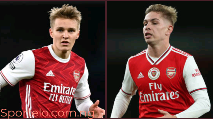 Emile Smith Rowe and Martin Odegaaard