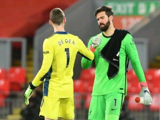 David De Gea and Alisson Becker