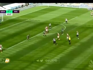 Watch Video: Aubmeyang doubles Arsenal's lead against Newcastle with a volley 15 Sportelo
