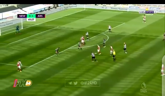 Watch Video: Aubmeyang doubles Arsenal's lead against Newcastle with a volley 1 Sportelo