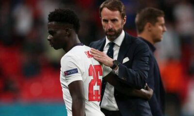 """Southgate singles out """"excellent"""" Saka for his performance as England qualify for next round. 1 Sportelo"""